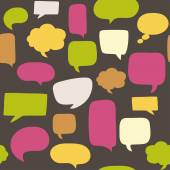Seamless pattern with speech bubbles — Stock Vector