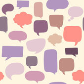Speech bubbles seamless pattern — Stock Vector