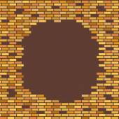 Wall, brown, brick - with place for text vector illustration — Stock Vector