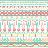 Ethnic seamless stripe pattern. Vector illustration for your cute design. Borders and frames. — Vector de stock