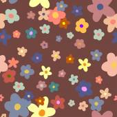 Flower Background seamless floral pattern — Stock Vector