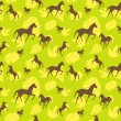 Brown horses seamless pattern — Stock Vector #59994827