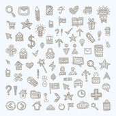 Vector Doodle Icons Set — Stock Vector
