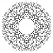 Lace doily vector illustration — Stock Vector