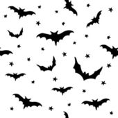 Seamless vector pattern with bats — Stock Vector