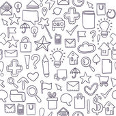 Seamless pattern Icons. Vector illustration — Stock Vector