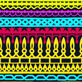 Ethnic seamless stripe pattern. Vector illustration for your cute design. Borders and frames. — Stockvector