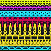 Ethnic seamless stripe pattern. Vector illustration for your cute design. Borders and frames. — Stock vektor