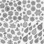 Four Seasons Seamless Pattern — Stock Vector