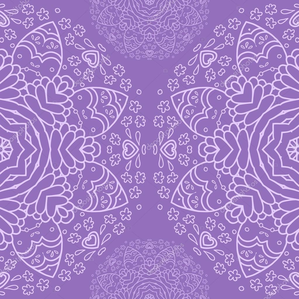 Lavender Background Wedding: Ornamentais Que Metade Redonda Padrão De Renda, Fundo Do