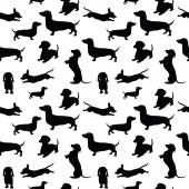 Seamless pattern with dogs — Stock Vector