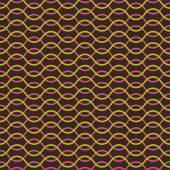Vector seamless pattern. Abstract stylish background. Wavy regular pattern — Stock Vector