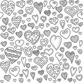 Love hearts seamless pattern. Doodle heart. Romantic background. Vector illustration — Vetorial Stock