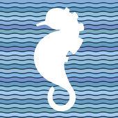 Seahorse. Original illustration — Stock Vector