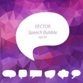 Speech bubbles vector set, EPS10 — Stock Vector