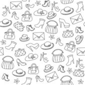 Background of women accessories. Seamless Vector pattern. — Stock Vector