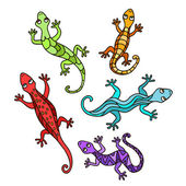 Decorative lizards — Stock Vector