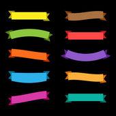 Vector Ribbons Set — Stock Vector