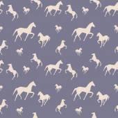 Horses seamless pattern — Stock Vector