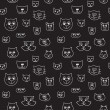 Cute seamless pattern with cat faces — Stock Vector #62583635