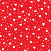 Heart shape vector seamless pattern. Red and white colors. Valentines day background for invitation — Stock Vector