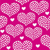 Heart shape vector seamless pattern. Valentines day background for invitation — Stockvektor