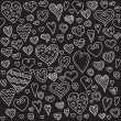 Love hearts seamless pattern. Doodle heart. Romantic background. Valentines day background for invitation. — Stock Vector #63815751