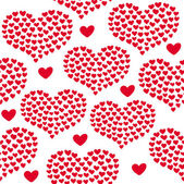 Heart shape vector seamless pattern. Valentines day background for invitation — Wektor stockowy