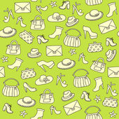 Background of women accessories. Seamless Vector pattern. — Vector de stock
