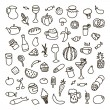 Set of 55 icons on the theme of food, different dishes and cuisines — Stock Vector #66072843