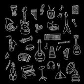 Set of Music Instruments — Stockvector