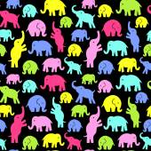Seamless vector pattern with elephants. Can be used for textile, website background, book cover, packaging. — Stock Vector