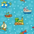 Seamless pattern with colorful childrens toys — Stok Vektör #70324335
