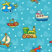 Seamless pattern with colorful childrens toys — Stock Vector