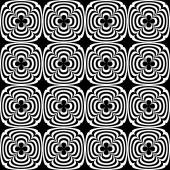 Abstract geometric seamless pattern. Black and white style pattern with circle and line. Endless texture for wallpaper, fill, web page background, surface texture. — Stock Vector