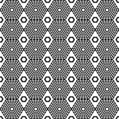 Abstract geometric seamless pattern. Black and white style pattern. Endless texture for wallpaper, fill, web page background, surface texture. — Stock Vector