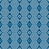 Abstract geometric seamless pattern. Blue and white style pattern. Endless texture for wallpaper, fill, web page background, surface texture. — Stock Vector