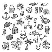 Set of beach icons. — Stock Vector