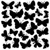Vector set of butterflies — Stock Vector