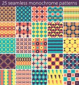25 seamless pattern. Vector seamless pattern. Endless texture can be used for printing onto fabric, paper or scrap booking, wallpaper, pattern fills, web page background, surface texture. — Stock Vector