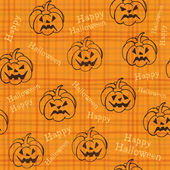 Halloween background with pumpkins — Stock Vector