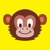 Monkey head - vector illustration — Stock Vector