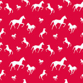 Horses seamless pattern. Endless texture can be used for wallpaper, pattern fill, web page background. — Stock Vector