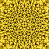 Kaqleidoscope fleur jaune — Photo
