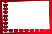 Красный Валентина сердца — Стоковое фото