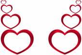 Coeurs rouge saint-valentin — Photo