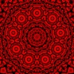 Red black kaleidoscope — Stock Photo #61442545