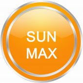 Sun max button — Stock Photo