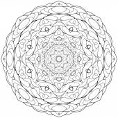 Coloring book kaleidoscopre for relax time — Stock Photo