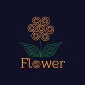 Flower orange — Cтоковый вектор